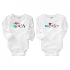 Bộ 2 áo bodysuit dài tay My love belong to mommy & daddy