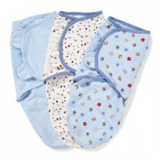 Bộ 3 chăn quấn Summer SwaddleMe Blue Sports Dots S/M
