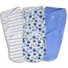 Bộ 3 chăn quấn Summer SwaddleMe Graphic Car Boy L