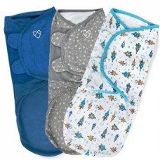 Bộ 3 chăn quấn Summer SwaddleMe Superstar Boy L